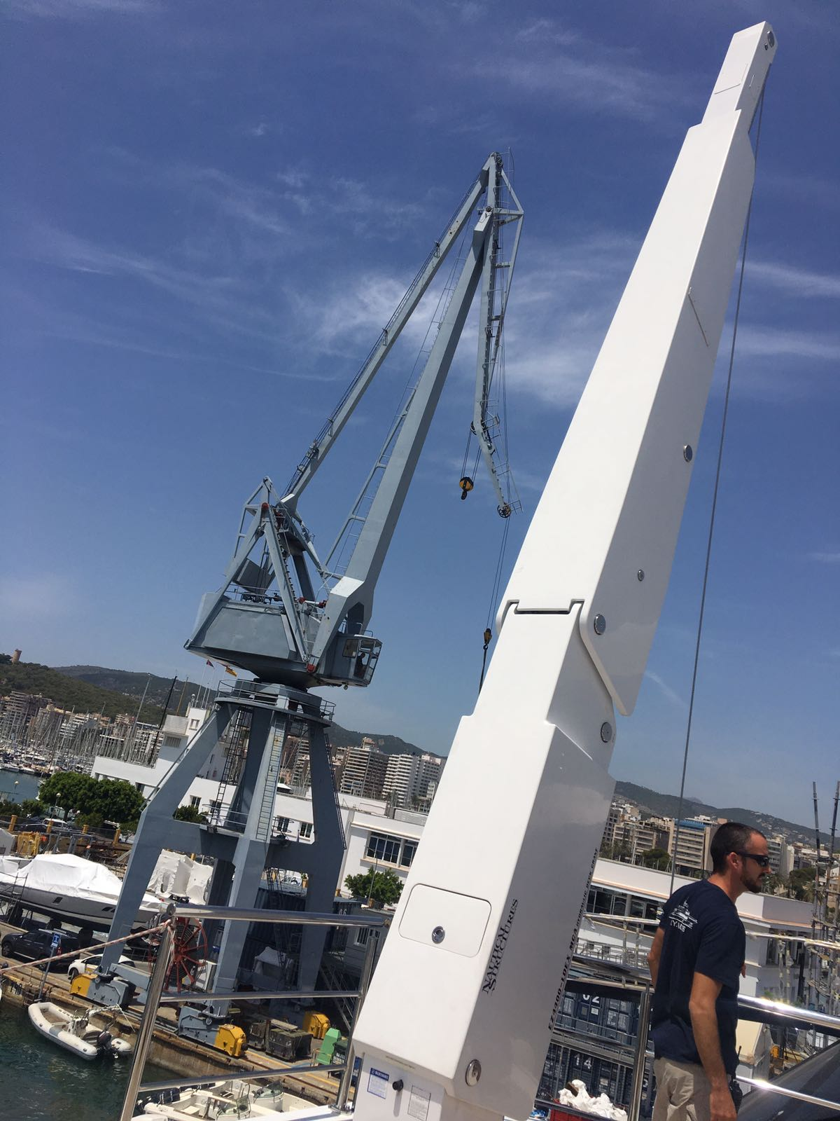 Load Testing New On Board Cranes Are You Aware Of The Regulations Crane Wiring Harness For Aboard Yacht Rsb Riggingrsb Rigging